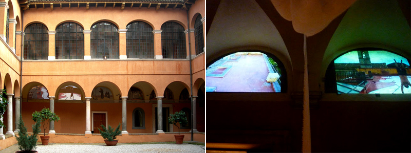 Video projections in two lunettes